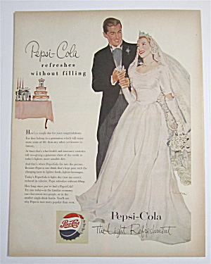 1953 Pepsi-Cola (Pepsi) with Bride & Groom At Wedding (Image1)