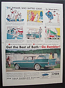 1958 Rambler With The Pitcher Who Batted
