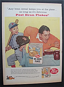 1958 Post 40% Bran Flakes By Dick Sargent
