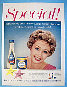 Vintage Ad: 1959 Lustre-creme Shampoo With Jane Powell