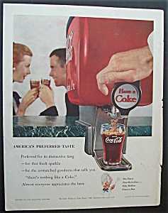 1955 Coca Cola (Coke) W/glass Being Filled With Coke