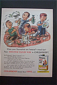 1959 Simoniz Vinyl Floor Wax w/Boys Playing with Fish (Image1)