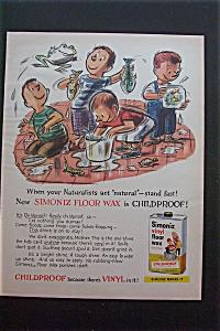 1959 Simoniz Vinyl Floor Wax w/Boys Playing with Fish (Image1)