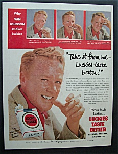 1955 Lucky Strike Cigarettes With Van Johnson