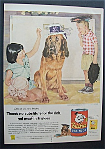Vintage Ad: 1955 Friskies Dog Food By Douglas Crockwell