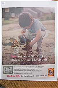 1959 Tide Laundry Detergent W/little Boy & Dirty Water