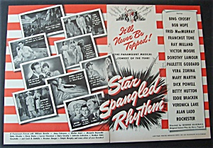 1943 Movie Ad For Star Spangled Rhythm