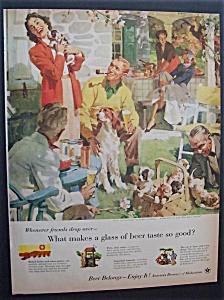Vintage Ad: 1955 Beer Belongs By Haddon Sundblom (Image1)