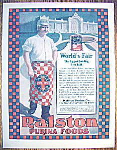Vintage Ad: 1904 Ralston Purina Foods (World's Fair)