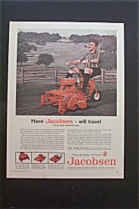 1959 Jacobsen Lawn Mower with Man Riding Lawn Mower (Image1)