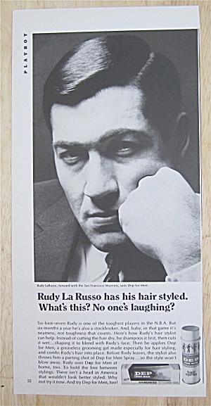 1967 Dep Styling Gel With San Francisco's Rudy La Russo