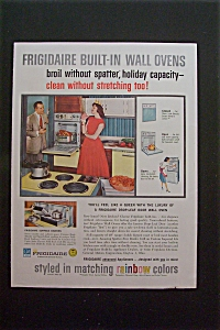 1959 Frigidaire Built In Wall Oven w/Woman Showing Man (Image1)