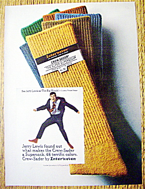 1967 Interwoven Socks with Jerry Lewis As The Big Mouth (Image1)