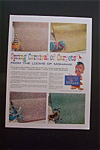 1959 Mohawk Carpets with 4 Samples of Carpeting  (Image1)