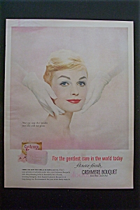 1959 Cashmere Bouquet Soap w/Hands Feeling Face (Image1)