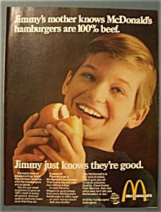 1969 Mc Donald's Restaurant with Boy Eating Hamburger (Image1)