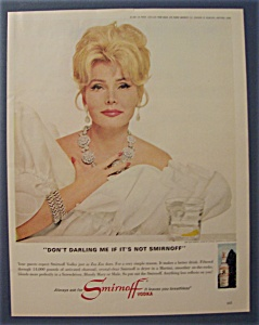 1967 Smirnoff Vodka With Television's Zsa Zsa Gabor