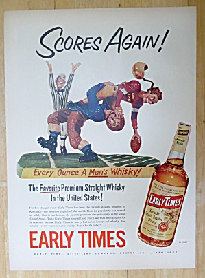 1952 Early Times Whiskey w/2 Football Players & Referee (Image1)