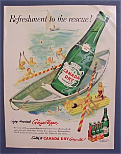 Vintage Ad: 1952 Canada Dry Ginger Ale