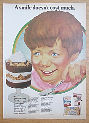 1975 Dream Whip & Jell-o With Making An Almond Parfait