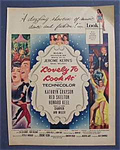 1952 Movie Ad For Lovely To Look At