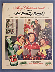 1952 7 Up (Seven Up) With Three Children Caroling