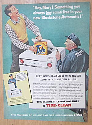 1956 Blackstone Automatic Washer & Tide Detergent