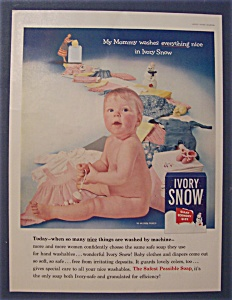 1956 Ivory Snow Soap with Little Baby Sitting (Image1)