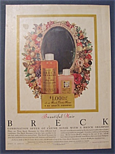 1956 Breck Shampoo With Mirror With Flowers