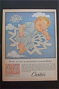 1959 Carter's with Baby Sleeping on Snowflake  (Image1)