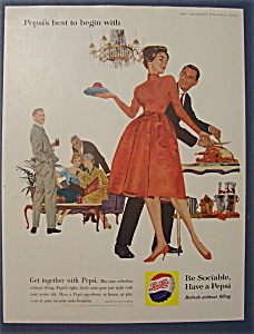 1960 Pepsi-Cola (Pepsi) with Woman Holding A Plate (Image1)