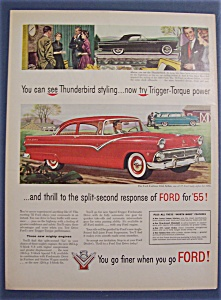 1955 Ford Thunderbird & Fairlane Club Sedan