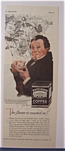 1928 White House Coffee With Man And A Cup Of Coffee