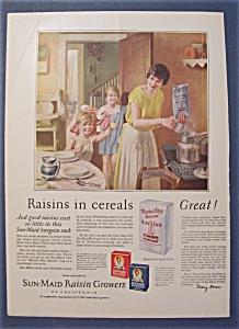 Vintage Ad: 1927 Sun - Maid Raisins (Image1)