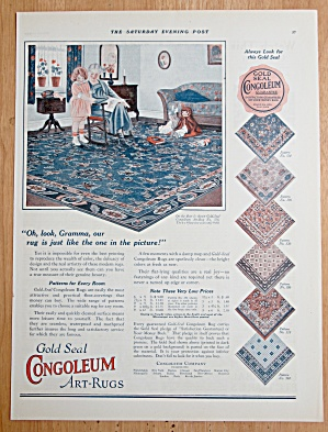 1924 Congoleum Gold Seal Art Rugs with Woman & Child (Image1)