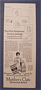 1927 Mother's Oats Aluminum Brand
