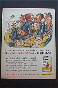 1959 Simoniz Vinyl Floor Wax w/Children & Food Fight (Image1)