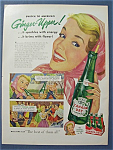 Vintage Ad: 1954 Canada Dry Ginger Ale