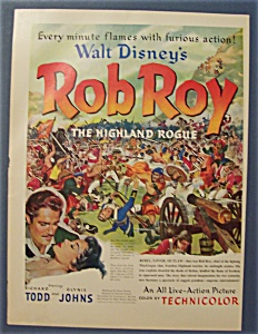 1953 Movie Ad For Rob Roy