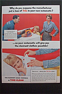 1957 Tide Detergent w/Man & Woman By Washing Machine (Image1)