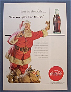 1954 Coca Cola (Coke) with Santa Claus & Bottle (Image1)