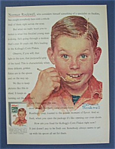 1954 Kellogg's Corn Flakes Cereal By Norman Rockwell (Image1)