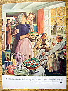 1954 After The Game By Haddon Sundblom (Beer Belongs)