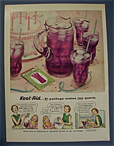 1954 Kool Aid With A Pitcher Of Kool Aid & 4 Glasses