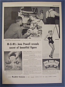 1954 Sunkist Lemons With Jane Powell