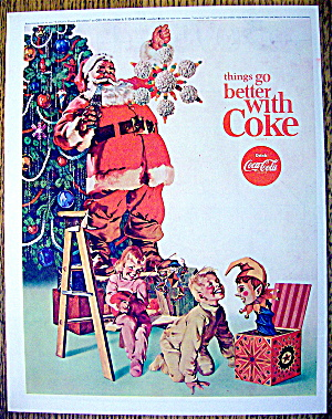 1965 Coca-Cola (Coke) with Santa Claus & Ornament (Image1)