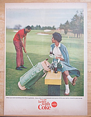 1965 Coca-Cola (Coke) with Man & Woman Golfing  (Image1)