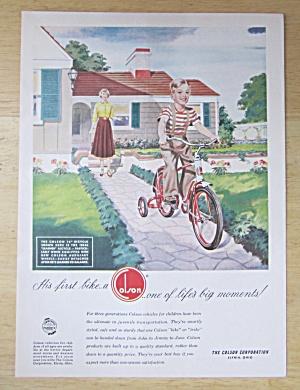 1951 Colson Bikes with Woman Watching Boy Ride Bike  (Image1)