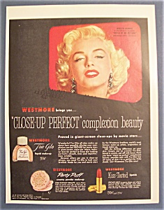 1954 Westmore Make - Up With Marilyn Monroe