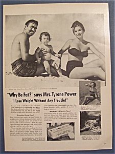 1954 Ayds Reducing Plan With Mrs. Tyrone Power